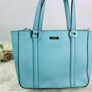 Kate Spade Purse Aqua blue handbag large size tote
